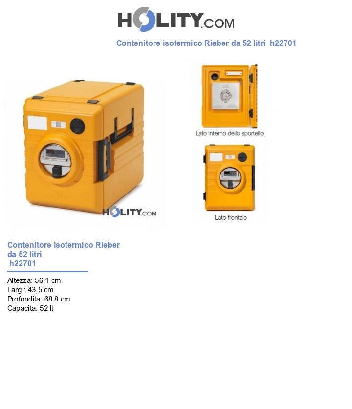 Contenitore isotermico Rieber da 52 litri  h22701