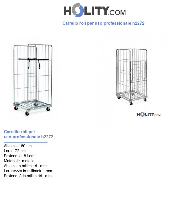 Carrello roll per uso professionale h2272