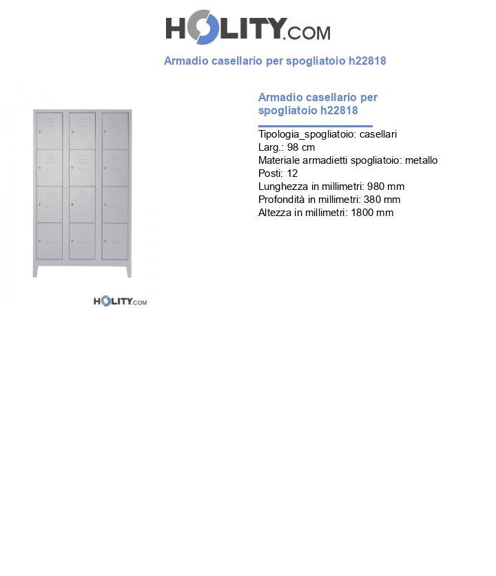 Armadio casellario per spogliatoio h22818
