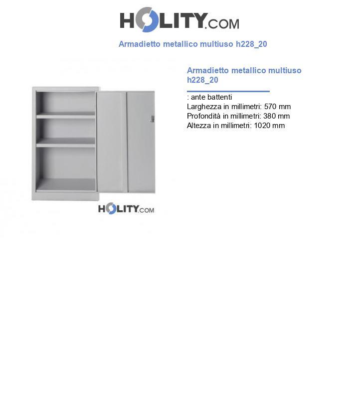Armadietto metallico multiuso h228_20