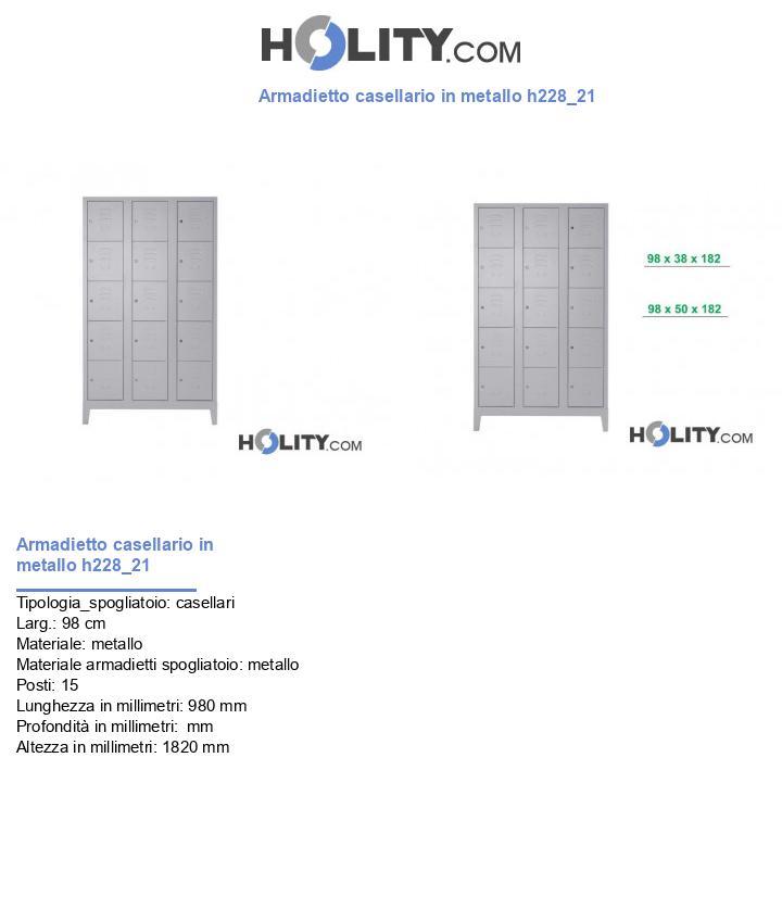 Armadietto casellario in metallo h228_21
