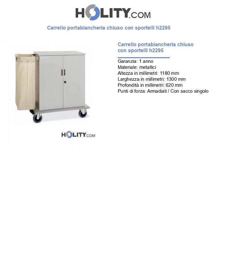 Carrello portabiancheria chiuso con sportelli h2295