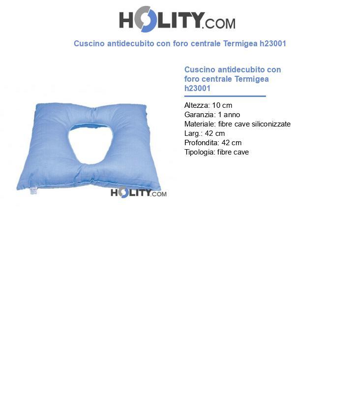 Cuscino antidecubito con foro centrale Termigea h23001