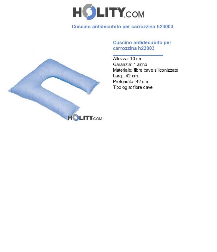 Cuscino antidecubito per carrozzina h23003