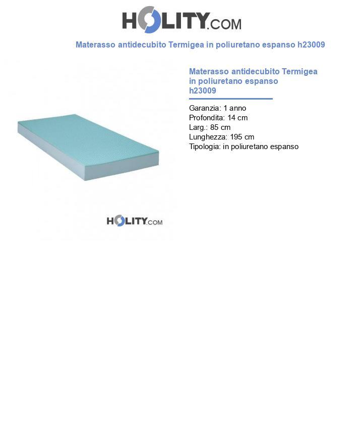 Materasso antidecubito Termigea in poliuretano espanso h23009