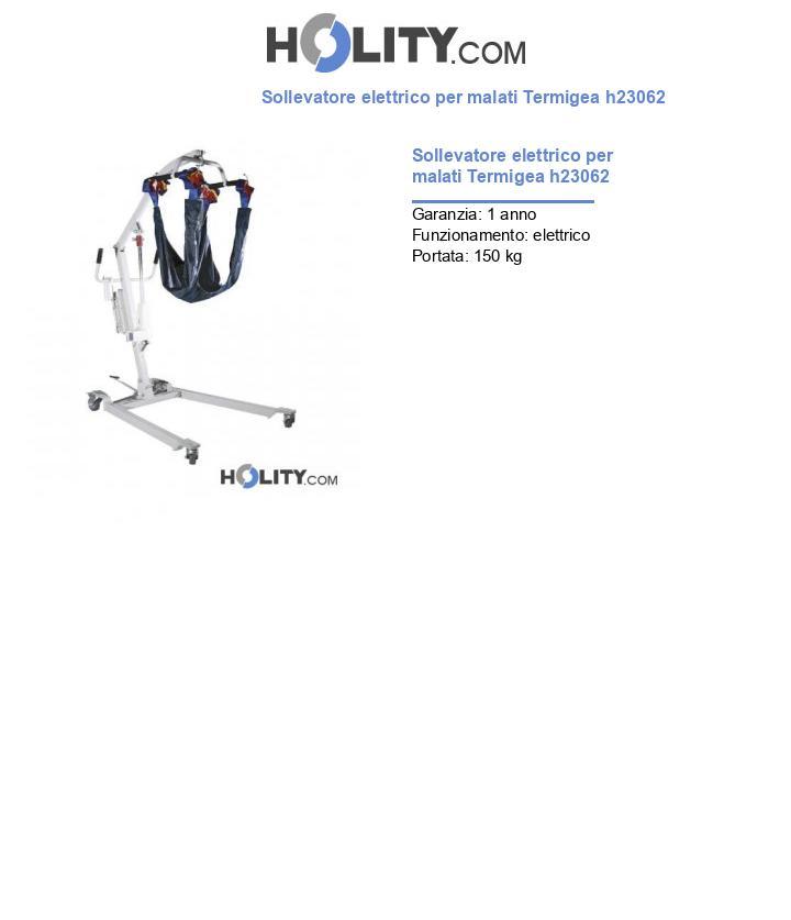 Sollevatore elettrico per malati Termigea h23062