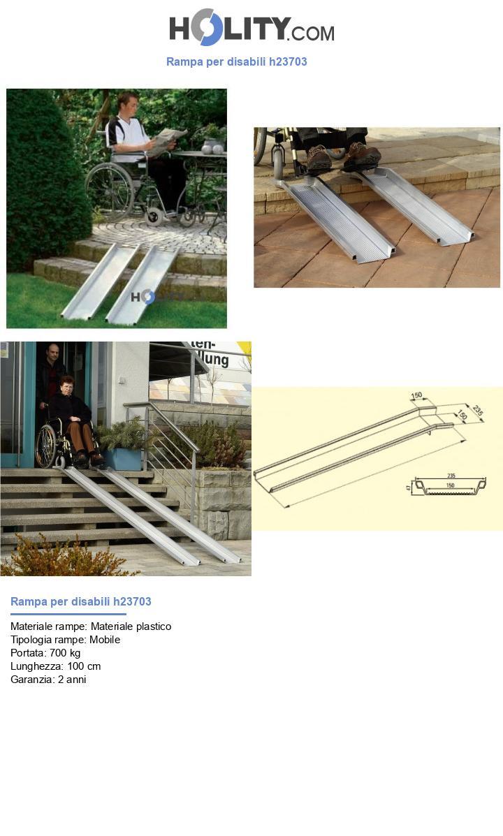 Rampa per disabili h23703