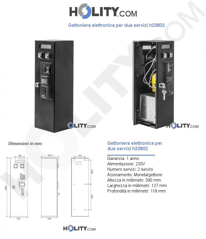 Gettoniera elettronica per due servizi h23802