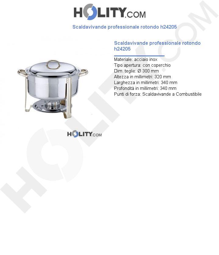 Scaldavivande professionale rotondo h24205