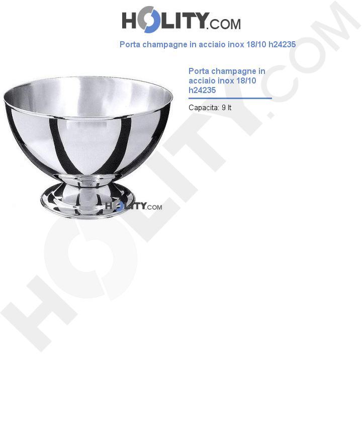 Porta champagne in acciaio inox 18/10 h24235