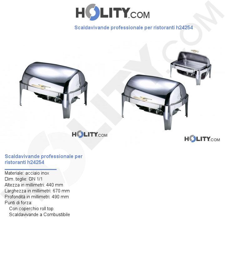 Scaldavivande professionale per ristoranti h24254