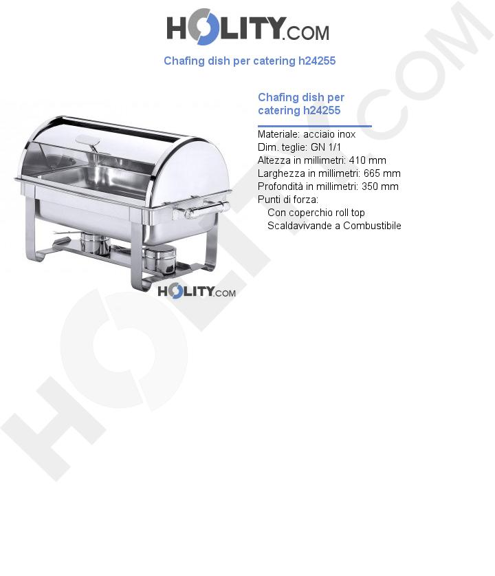 Chafing dish per catering h24255