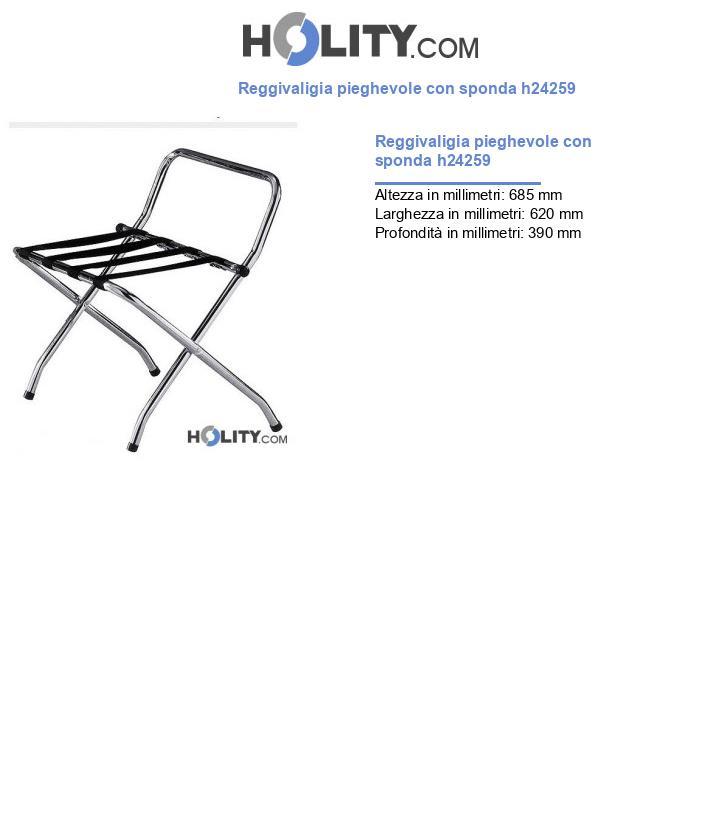 Reggivaligia pieghevole con sponda h24259