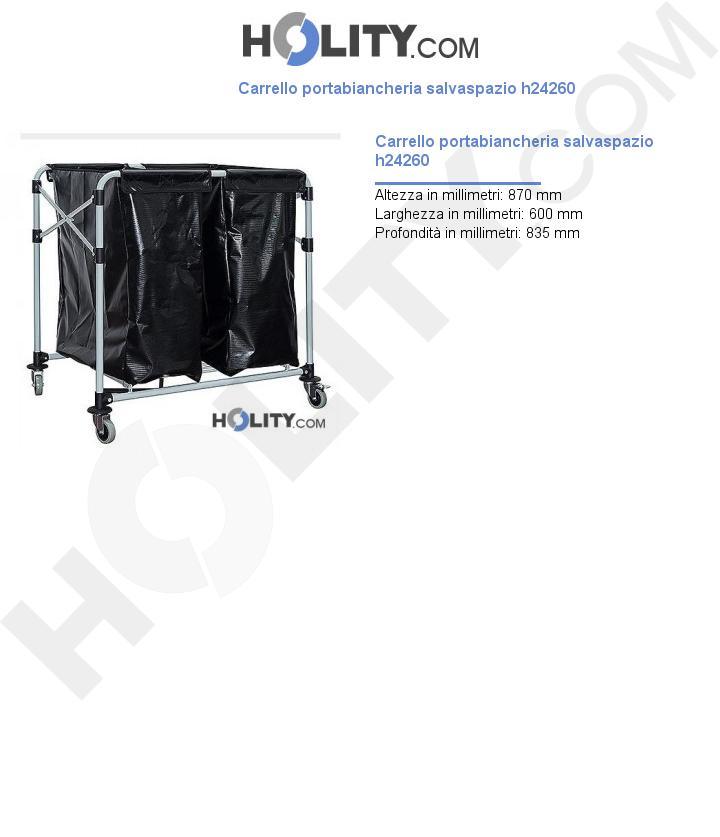 Carrello portabiancheria salvaspazio h24260