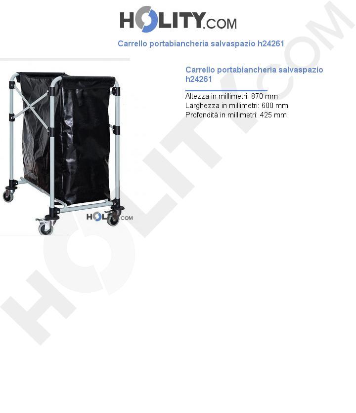Carrello portabiancheria salvaspazio h24261