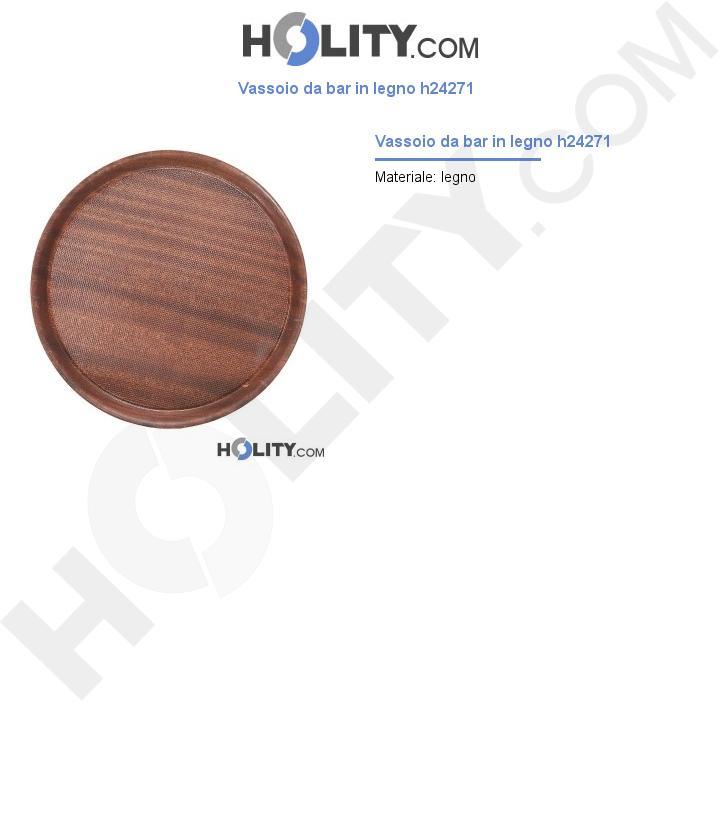 Vassoio da bar in legno h24271