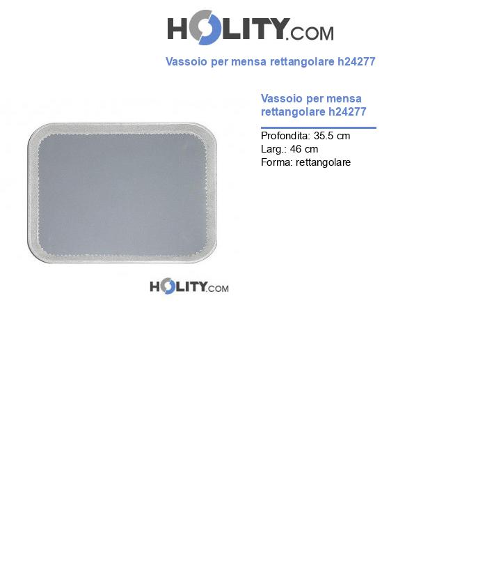 Vassoio per mensa rettangolare h24277