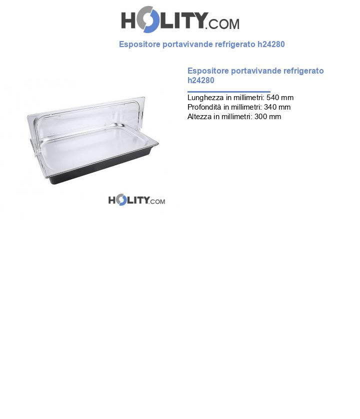 Espositore portavivande refrigerato h24280