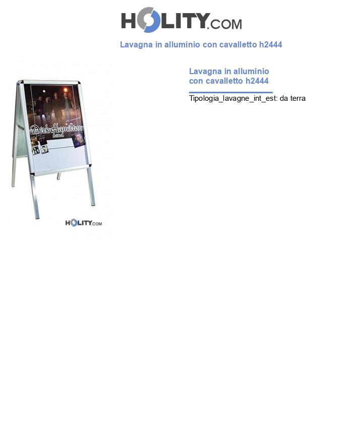 Lavagna in alluminio con cavalletto h2444