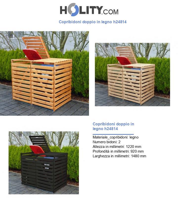 Copribidoni doppio in legno h24814