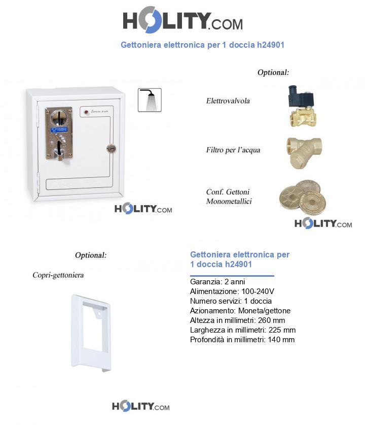 Gettoniera elettronica per 1 doccia h24901