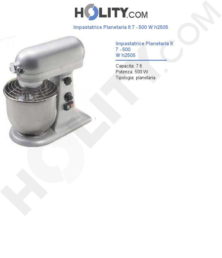 Impastatrice Planetaria lt 7 - 500 W h2505