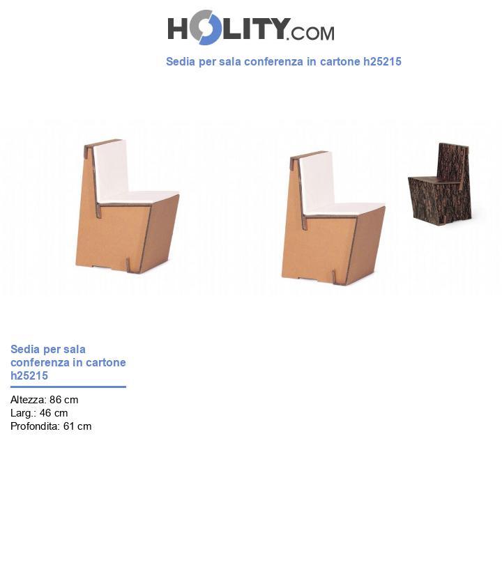 Sedia per sala conferenza in cartone h25215