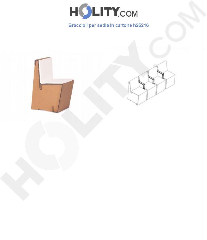 Braccioli per sedia in cartone h25216