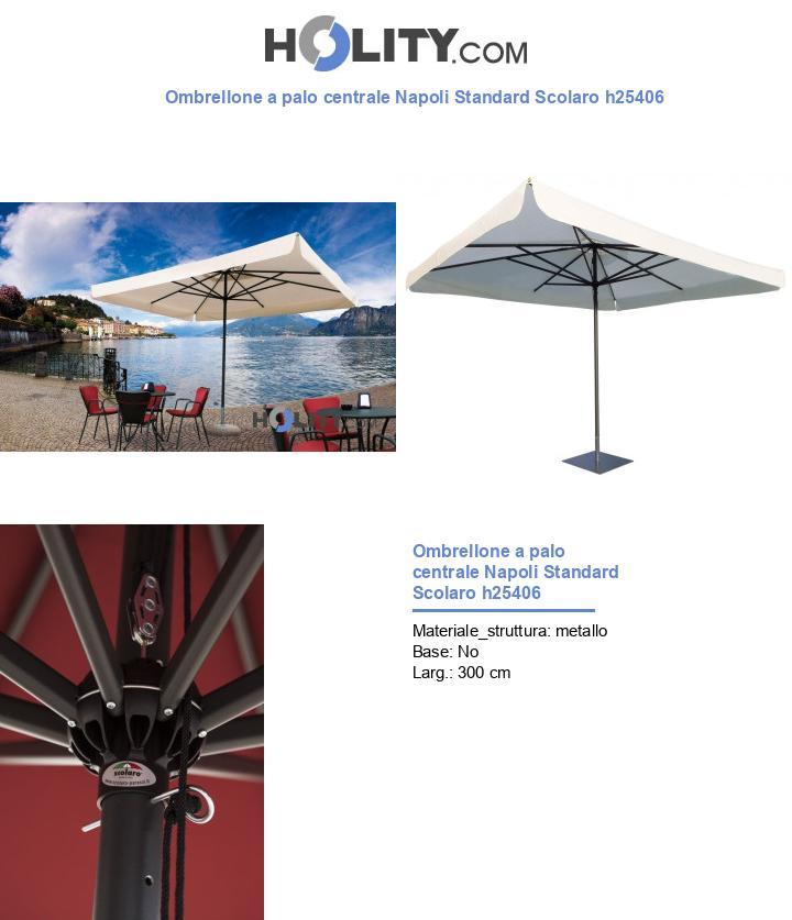 Ombrellone a palo centrale Napoli Standard Scolaro h25406
