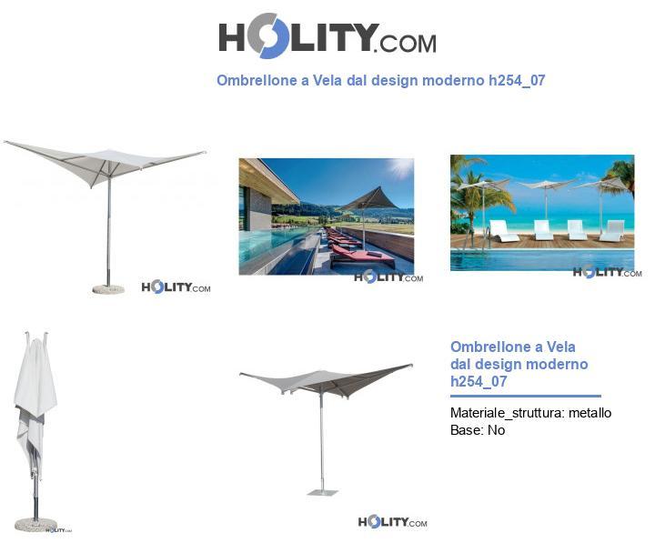 Ombrellone a Vela dal design moderno h254_07
