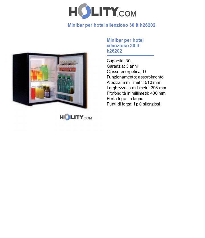 Minibar per hotel silenzioso 30 lt h26202