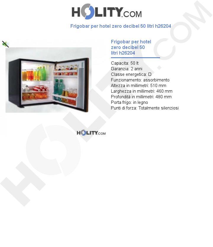 Frigobar per hotel zero decibel 50 litri h26204