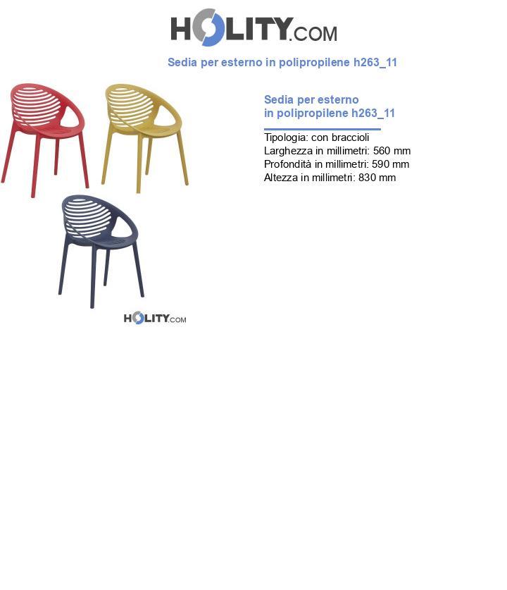 Sedia per esterno in polipropilene h263_11