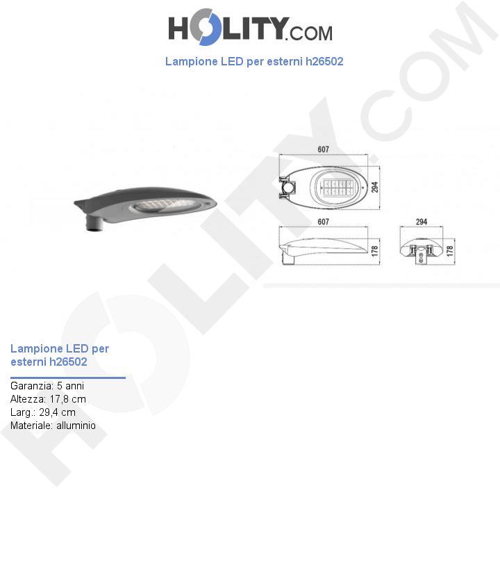 Lampione LED per esterni h26502