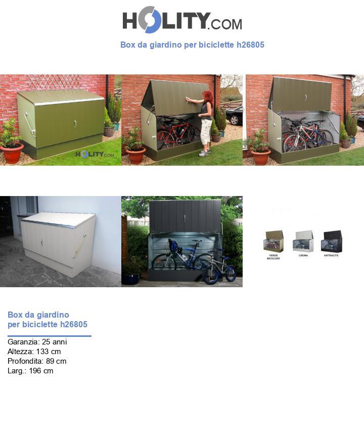 Box da giardino per biciclette h26805