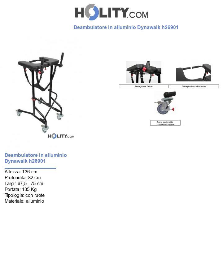 Deambulatore in alluminio Dynawalk h26901
