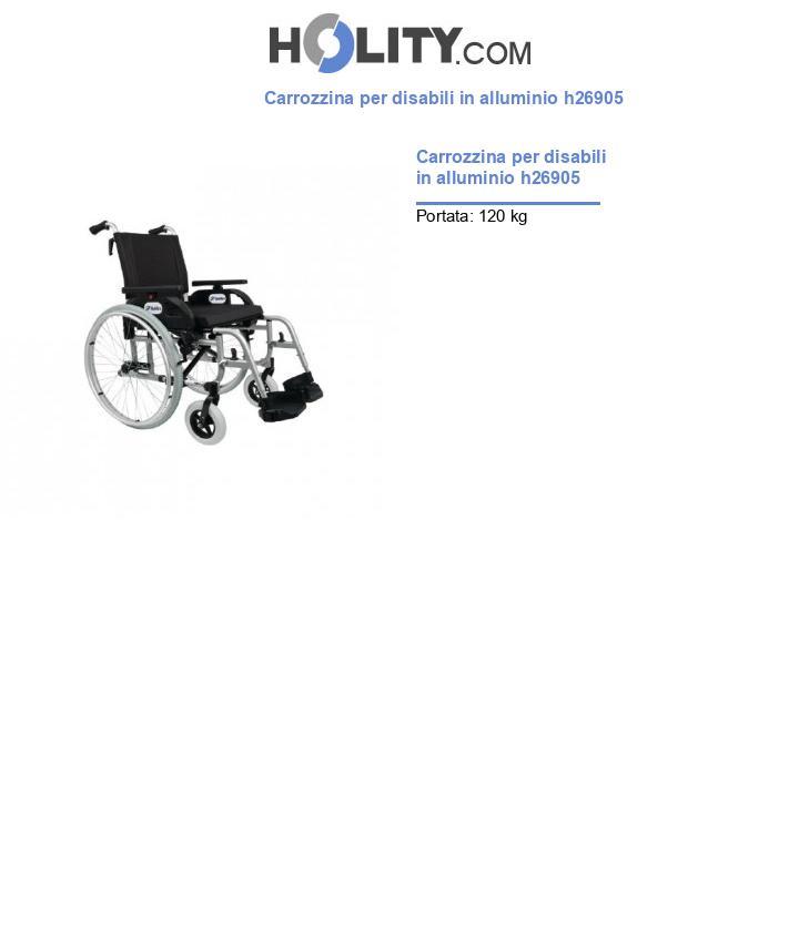 Carrozzina per disabili in alluminio h26905