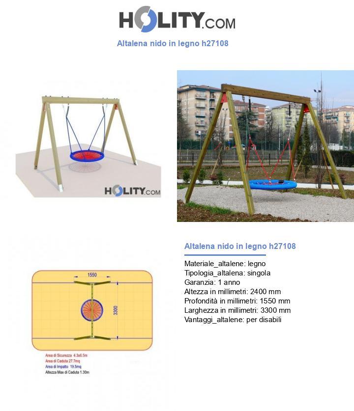 Altalena nido in legno h27108