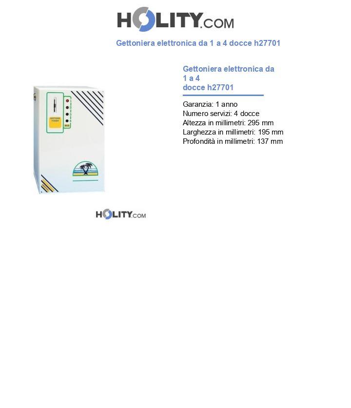 Gettoniera elettronica da 1 a 4 docce h27701
