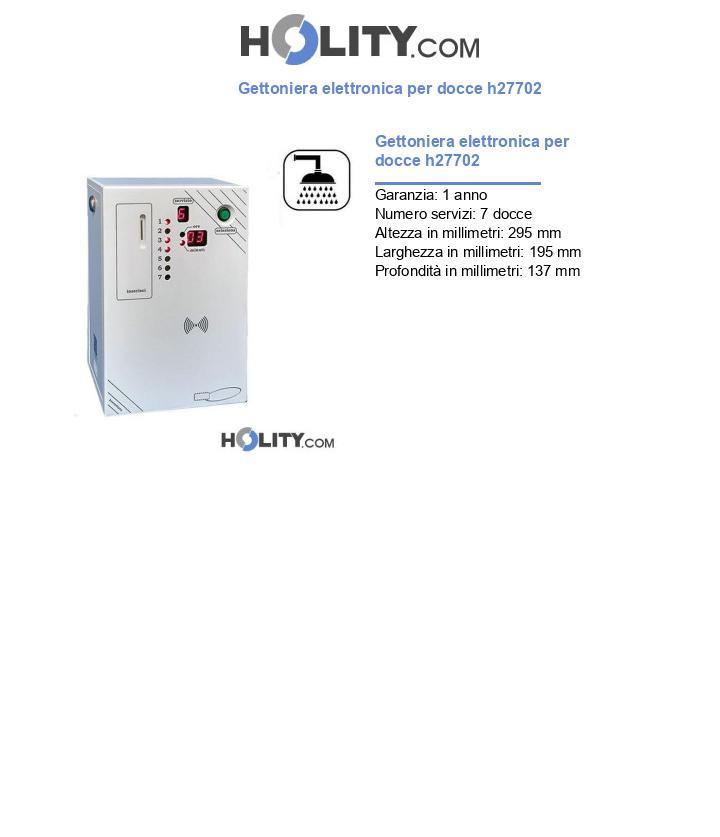 Gettoniera elettronica per docce h27702