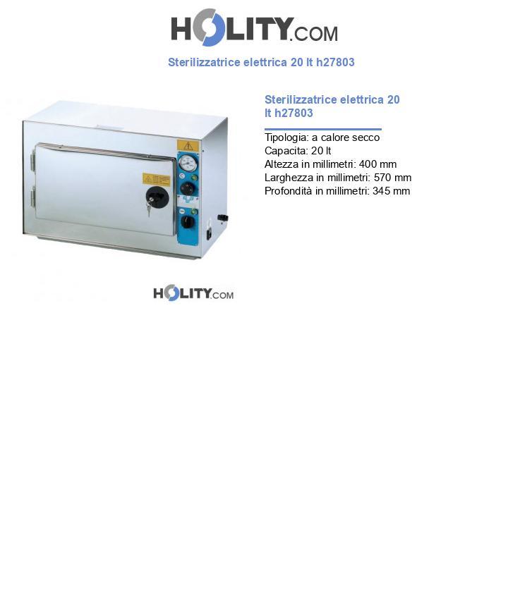 Sterilizzatrice elettrica 20 lt h27803