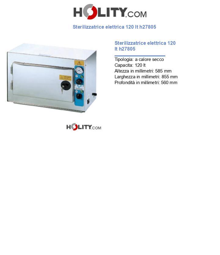 Sterilizzatrice elettrica 120 lt h27805