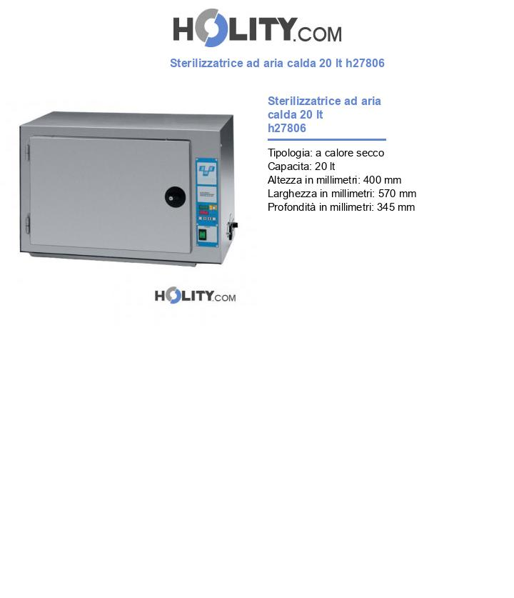 Sterilizzatrice ad aria calda 20 lt h27806