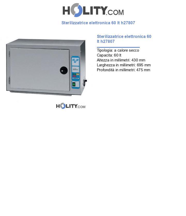 Sterilizzatrice elettronica 60 lt h27807