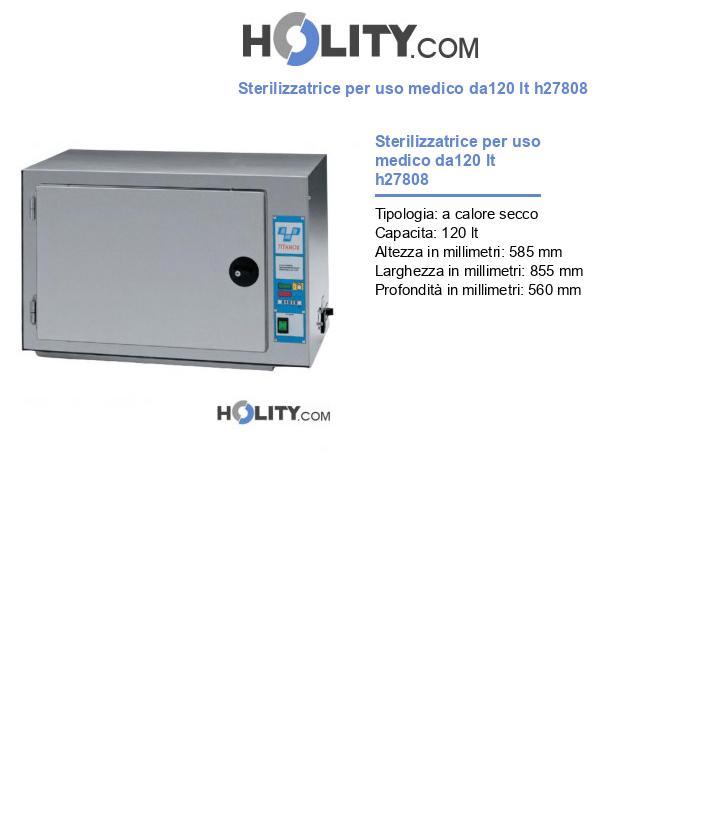 Sterilizzatrice per uso medico da120 lt h27808