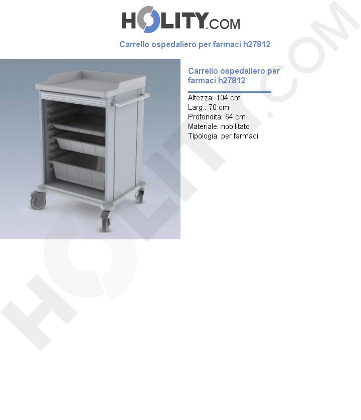 Carrello ospedaliero per farmaci h27812