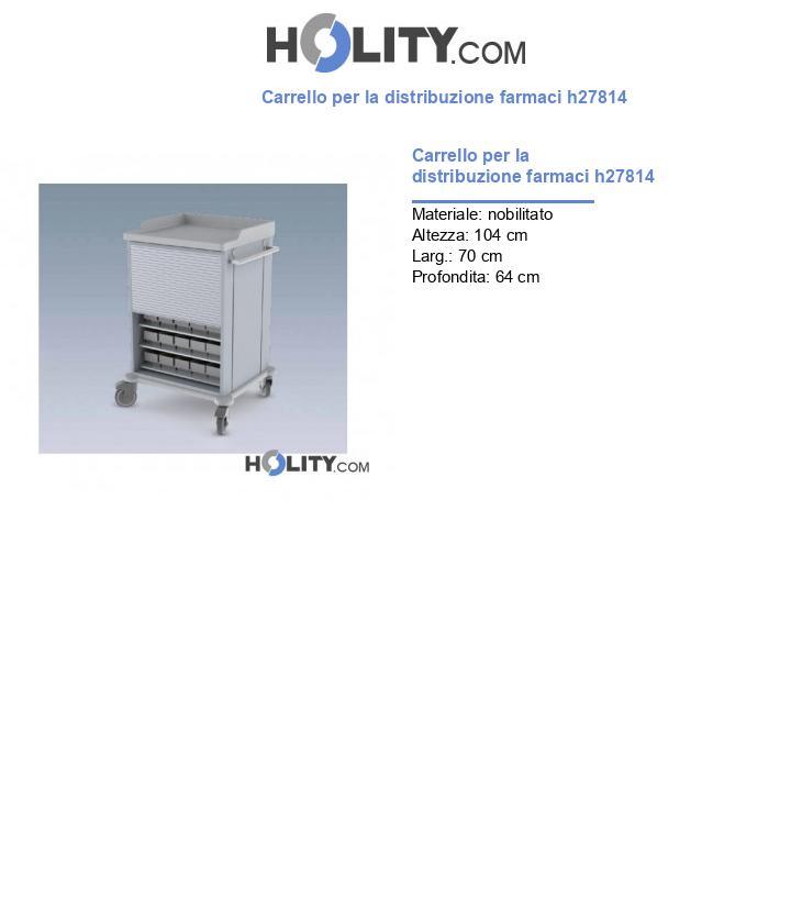 Carrello per la distribuzione farmaci h27814