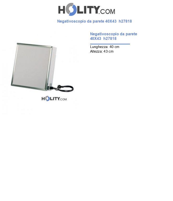 Negativoscopio da parete 40X43  h27818