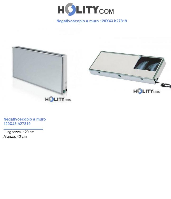 Negativoscopio a muro 120X43 h27819