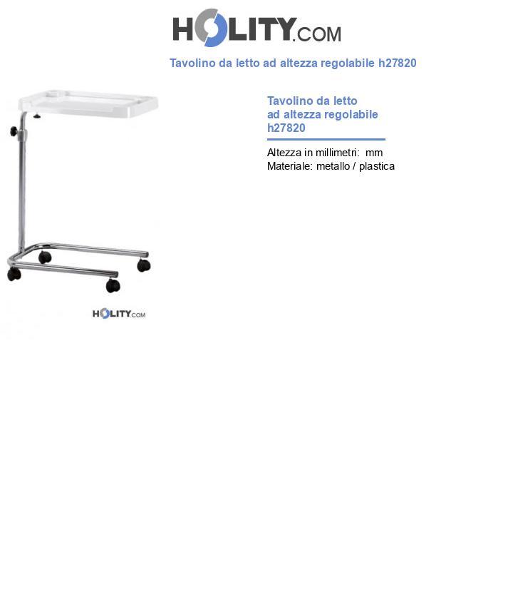 Tavolino da letto ad altezza regolabile h27820